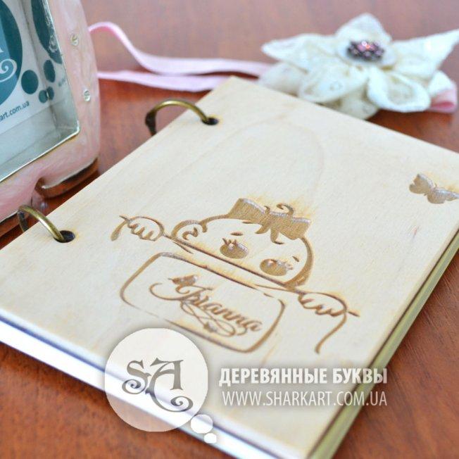 Блокнот в деревянной обложке «Baby Girl»