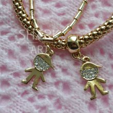 """Тонкий браслет для мам """"Golden Boy"""""""