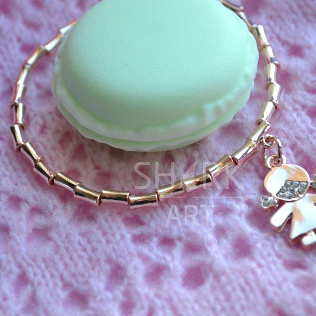 """Тонкий браслет для мам """"Golden Girl"""""""