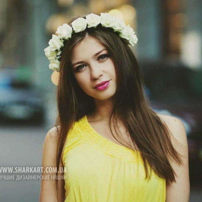 """Ободок """"Белые розы"""""""