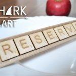 """3 таблички """"RESERVED"""" в стиле игры скрабл"""