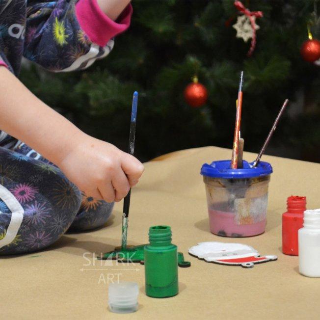 Ёлочные игрушки для детского творчества