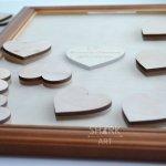 Рамка-копилка для сердец с пожеланиями гостей
