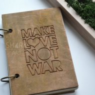 "Блокнот ""Make love not war"""