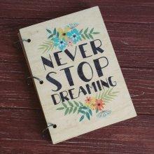 "Скетчбук ""Never Stop Dreaming"""