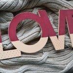 Слово «Love» длина 30 см
