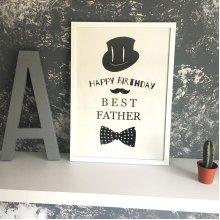 Постер А3 BEST FATHER