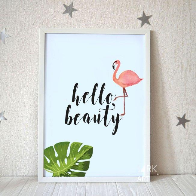 Постер А3  Hello Beauty