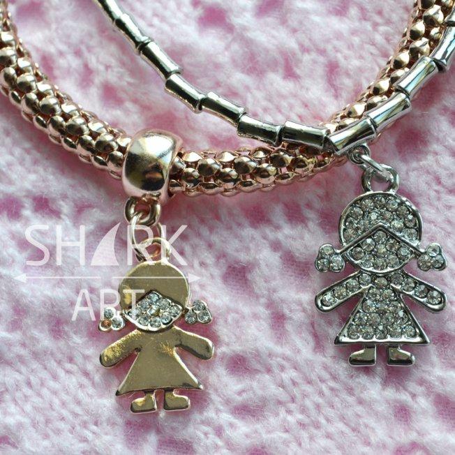 """Толстый браслет для мам """"Golden Girl"""""""