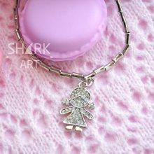 """Тонкий браслет для мам """"Silver Girl"""""""