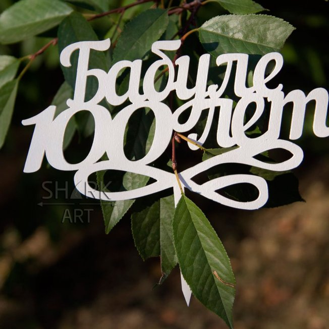 "Топпер в торт ""Бабуле 100 лет"""