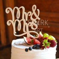 Верхушка в свадебный торт Mr&Mrs