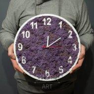 Часы с фиолетовым мхом