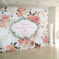 Фото-баннер на праздник с арендой конструкции 2х3 м