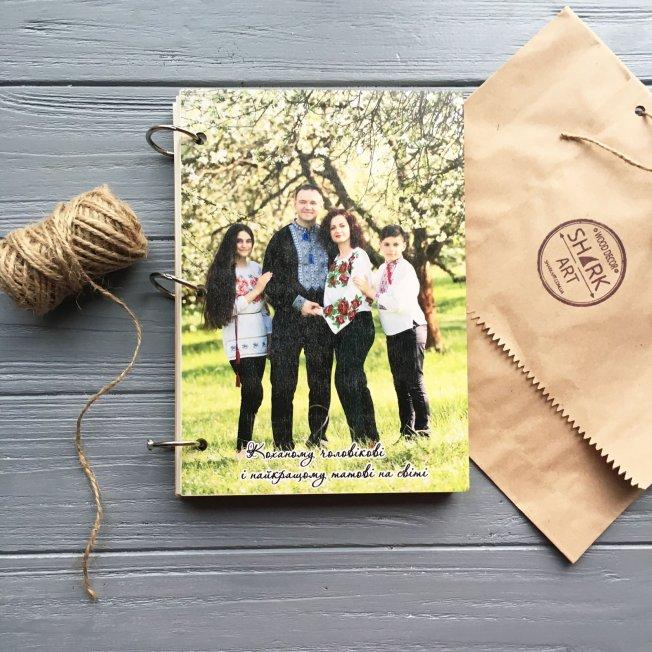Деревянный блокнот с фотографией