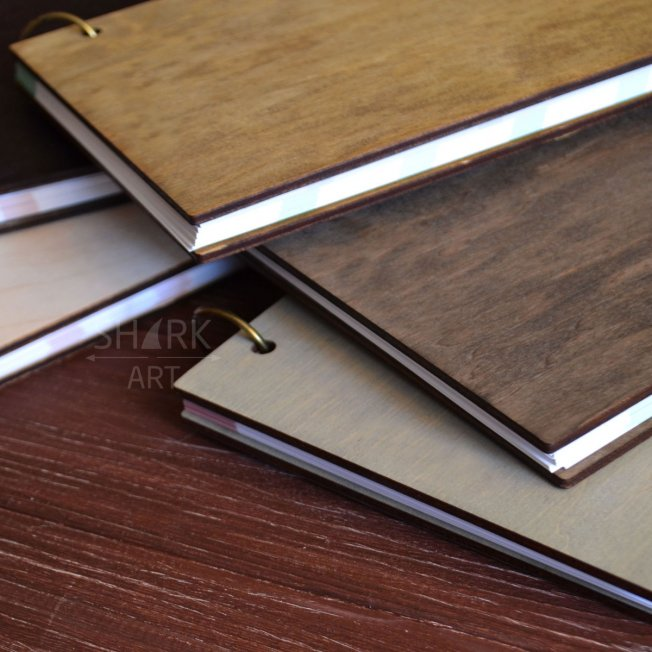 Деревянный блокнот в стиле минимализм