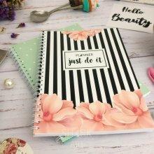 Ежедневник в полоску с цветами