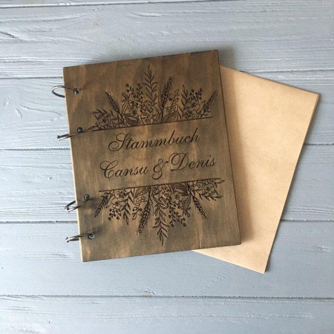 Свадебная книга А4 Полевые цветы