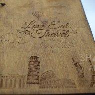 "Скетчбук А5 на 100 черных листов ""Love Travel"""