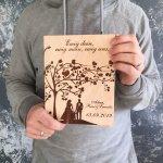 Свадебная книга с индивидуальной гравировкой