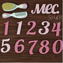 Цифры для фотосессии малышей