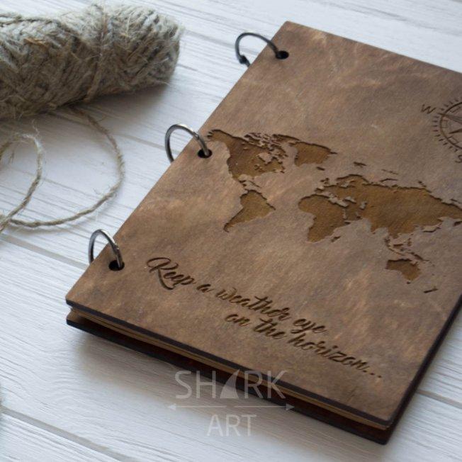 """Скетчбук или планер """"Карта мира"""""""